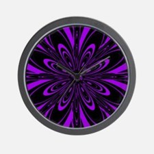 Purple Flower Wall Clock