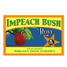 ImPEACH Rove Brand Bush! Postcards (Package of 8)