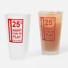 insert coin to play Drinking Glass