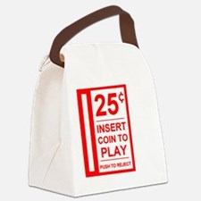 insert coin to play Canvas Lunch Bag