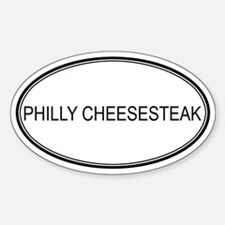 PHILLY CHEESESTEAK (oval) Oval Decal