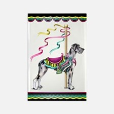 Great Dane Merle UC Carousel Rectangle Magnet