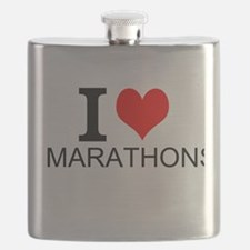 I Love Marathons Flask