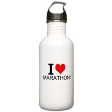 I Love Marathons Water Bottle