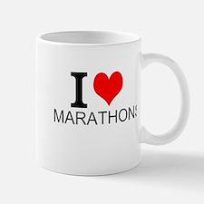 I Love Marathons Mugs