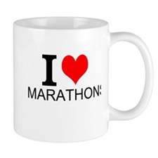 I Love Marathons Mugs