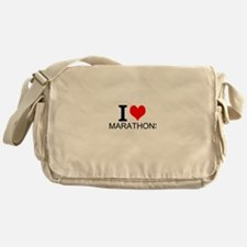 I Love Marathons Messenger Bag