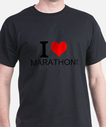 I Love Marathons T-Shirt
