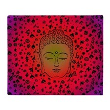 Buddha Pink Throw Blanket