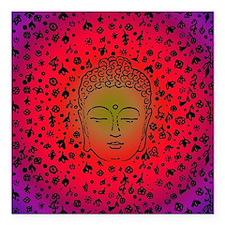 "Buddha Pink Square Car Magnet 3"" x 3"""