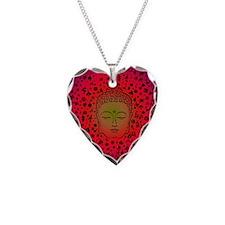 Buddha Pink Necklace Heart Charm