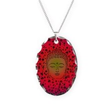 Buddha Pink Necklace Oval Charm