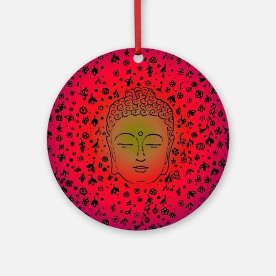 Buddha Pink Round Ornament