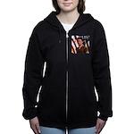 VintageArmyTile.png Women's Zip Hoodie