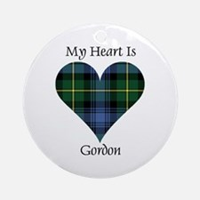 Heart - Gordon Ornament (Round)