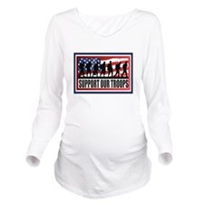 Support Our Troops Long Sleeve Maternity T-Shirt