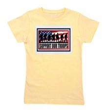 Support Our Troops Girl's Tee
