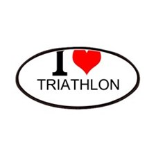 I Love Triathlons Patches