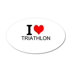I Love Triathlons Wall Decal