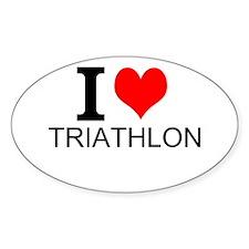 I Love Triathlons Decal