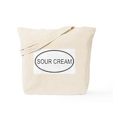 SOUR CREAM (oval) Tote Bag