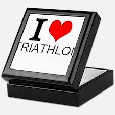 I Love Triathlons Keepsake Box