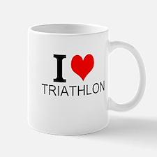 I Love Triathlons Mugs