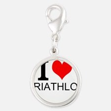 I Love Triathlons Charms