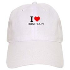 I Love Triathlons Baseball Baseball Cap