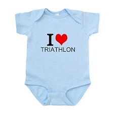 I Love Triathlons Body Suit
