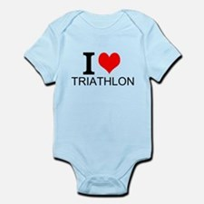 I Love Triathlons Body Suit