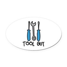 Tool Guy Oval Car Magnet