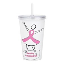 Saved by a Mammogram Acrylic Double-wall Tumbler