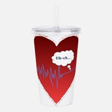 UhOhredheartsm.png Acrylic Double-wall Tumbler