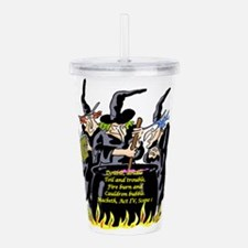 3Witches.png Acrylic Double-wall Tumbler