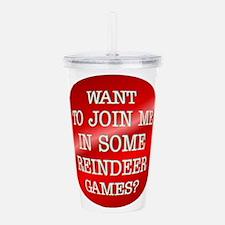 ReindeerGames.png Acrylic Double-wall Tumbler