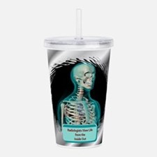RadiologistOrn.png Acrylic Double-wall Tumbler