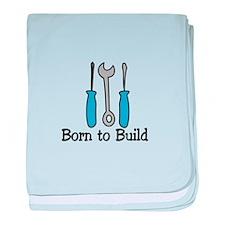 Born To Build baby blanket