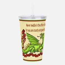 dragonRoundShirt.png Acrylic Double-wall Tumbler