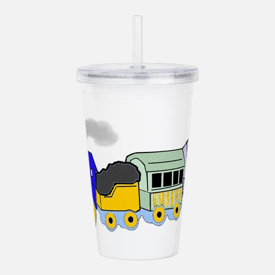 toy_train_BW.png Acrylic Double-wall Tumbler