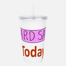 GarageSaleSign.png Acrylic Double-wall Tumbler