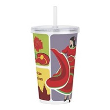 mexican6.png Acrylic Double-wall Tumbler