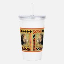 Lion1left.png Acrylic Double-wall Tumbler