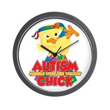 Autism Messed With The Wrong Chick Wall Clock
