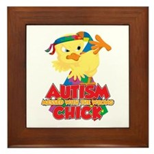 Autism Messed With The Wrong Chick Framed Tile