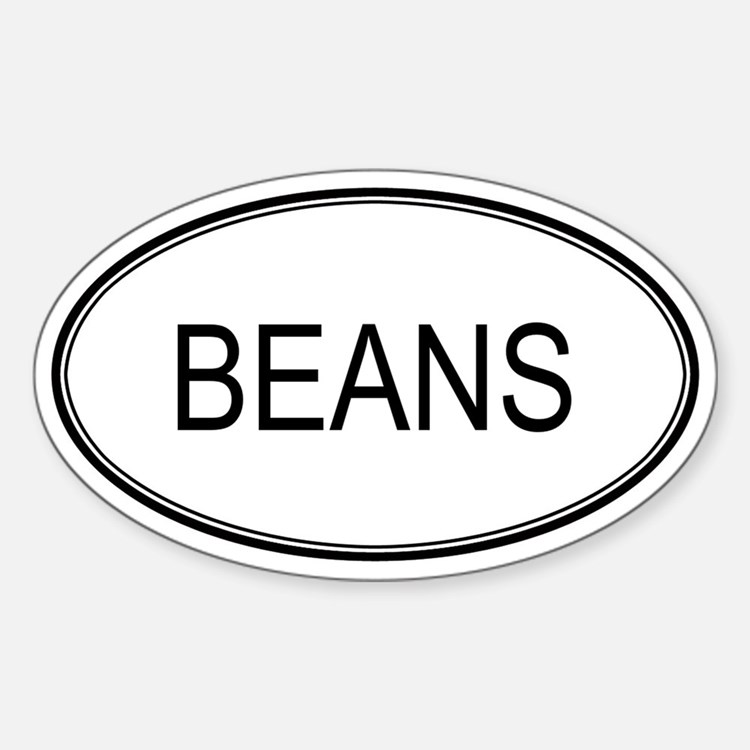 BEANS (oval) Oval Decal