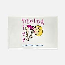Diving Diva Magnets