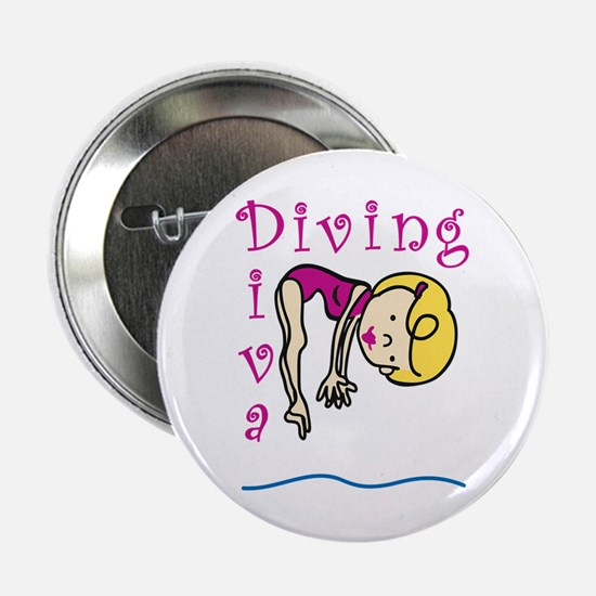 "Diving Diva 2.25"" Button"
