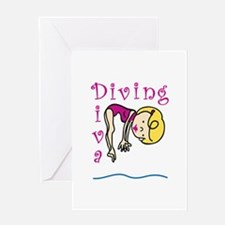 Diving Diva Greeting Cards