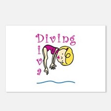 Diving Diva Postcards (Package of 8)